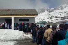 Elections 2019: Polling Day In Snow-covered Sikkim