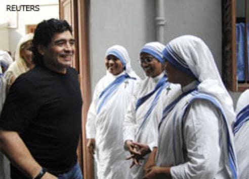 Frenzied Kolkatans can't have enough of Maradona