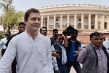 In Rare Scene, Rahul Gandhi Joins Congress MPs in Raising Slogans in Lok Sabha