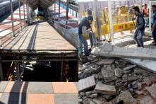 PICS: Rail Over-bridge Collapses at Bhopal Railway Station