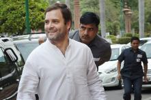 Rahul Gandhi in Basti on Third Day of 'Kisan Mahayatra'