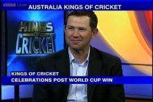 Ricky Ponting celebrates Australia's World Cup win