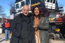Anupam Kher Visits Priyanka Chopra At Quantico Set In New York; See Pictures