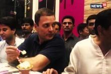 Watch: Rahul Gandhi in an Icecream Parlour With Jyotiraditya Scindia and Kamal Nath