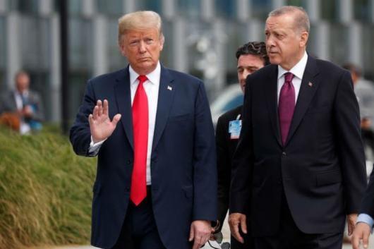File photo of US president Donald Trump and Turkish president Erdogan. (Reuters)