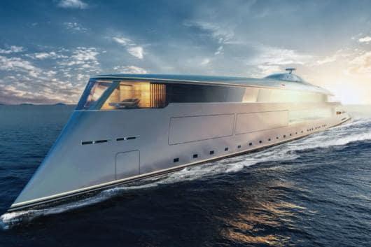Bill Gates' Hydrogen-powered Superyacht.  (Image: The Guardian)