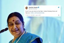 'Even If You Are Stuck on Mars, Indian Embassy Will Help You': Twitter Remembers Sushma Swaraj