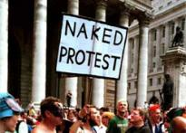 Naked protests are finally here
