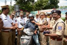 Giving Helmets Instead of Challans: Hyderabad Cops' Innovative Way of Punishing Traffic Violators