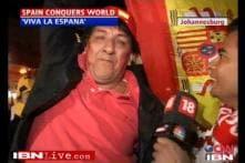 Ecstatic fans celebrate Spain's WC win