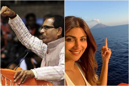 Image of Shivraj Singh Chouhan, Shilpa Shetty, courtesy of Instagram