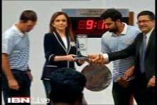Mumbai Indians owner Nita Ambani, cricketers Rohit Sharma, Ricky Ponting ring opening bell at BSE
