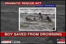 Watch: Rescuers brave raging Gaula river in Haldwani to save a boy