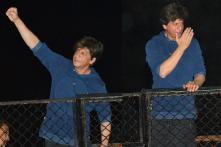 PICS: Shah Rukh Khan Greets Sea of Fans on His 53rd Birthday
