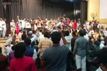 Bangalore: Ugly scenes at Ananth Kumar, Nilekani debate; supporters clash