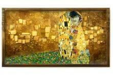 Google doodles Gustav Klimt's 'The Kiss'