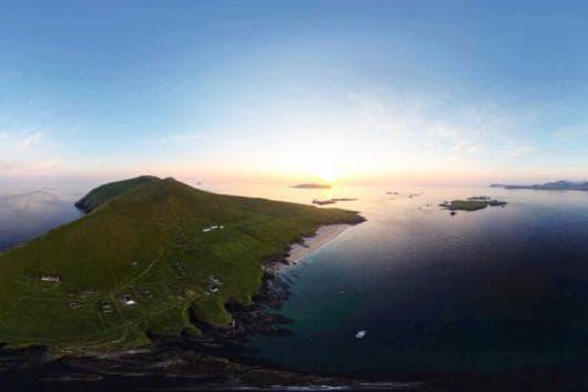 Great Blasket Island in all its glory. (Image: AirCam Ireland via @gbisland)
