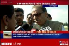 Watch: Former MP Saifuddin Soz heckled by flood victims in Srinagar