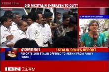 DMK treasurer MK Stalin denies any rumours of his resignation