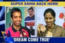Go for Glory: Saina welcomed back home