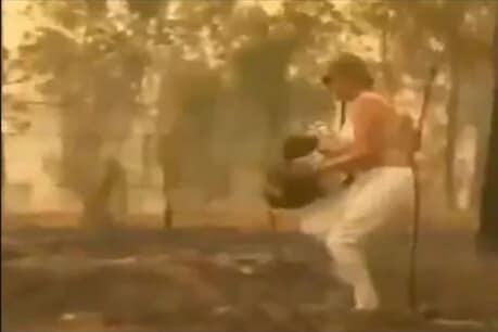 VIDEO: ਜੰਗਲ 'ਚ ਅੱਗ ਦੌਰਾਨ ਔਰਤ ਨੇ ਸ਼ਰਟ ਲਾ ਕੇ ਬਚਾਈ ਇਸ ਜਾਨਵਰ ਦੀ ਜਾਨ