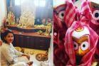 রচনা বন্দ্যোপাধ্যায়ের বাড়িতে প্রথমবার জগন্নাথদেবের স্নানযাত্রার পুজো