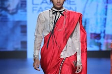 Instead of blouse, wear saree with fancy top