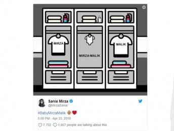 এরপরই এল সুসমাচার ৷ সানিয়া মির্জা নিজের সোশ্যাল মিডিয়া হ্যান্ডেলে সুখবর জানিয়েছেন , এবার আসতে চলেছেন মির্জা-মালিক ৷ Photo Courtesy: sania mirza/Twittter Handle