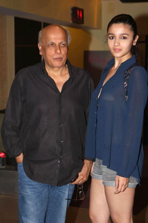 মেয়ে আলিয়া ভাটের সঙ্গে মহেশ ভট্ট (Image: PTI)