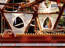 তাঁত শিল্পের খুঁটিনাটি ফুটছে ছেষট্টি পল্লির মণ্ডপে, থিম বয়নের চালচিত্র