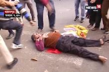 যাদবপুরে বেশ কিছু সময় রেল অবরোধ, ৮-বি বাসস্ট্যান্ডে ধর্মঘটি-পুলিশ ধস্তাধস্তি