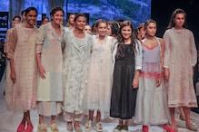 Lakme Fashion Week: ল্যাকমে ফ্যাশন উইকে নজর কাড়ল ডিজাইনার রিনা সিংয়ের পোশাক