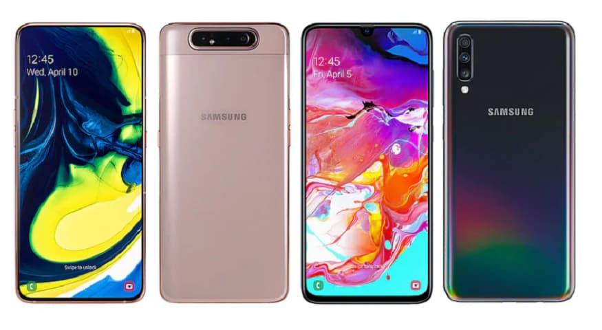 ভারতের Samsung-এর চিফ মার্কেটিং অফিসার জানিয়েছে যে  ভারতে 25,000 টাকা থেকে 30,000 টাকার মধ্যে লঞ্চ হতে পারে Galaxy A70 আর  Galaxy A80 লঞ্চ হতে পারে 45,000 টাকা থেকে 50,000 টাকার মধ্যে।