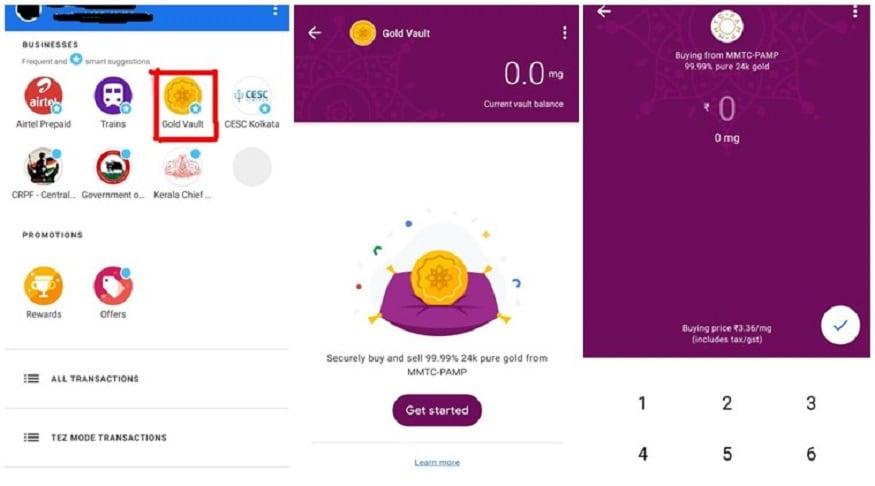 ভারতের গ্রাহকরা Google Pay ব্যবহার করে ভারতে 99.99 শতাংশ 24 ক্যারাট সোনা কিনতে পারবে।