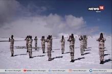 বরফ, কনকনে ঠাণ্ডা...তারমধ্যেই লাদাখে আন্তর্জাতিক যোগ দিবস উদযাপন সেনাবাহিনীর
