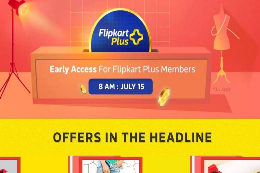 Flipkart Plus গ্রাহকদের জন্য এই সেল শুরু হবে 15 জুলাই সকাল 8 টা থেকে আর নন মেম্বারদের জন্য এই সেল শুরু হবে দুপুর ১২টা থেকে।