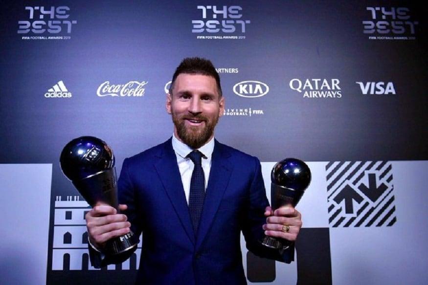 ফিফার বর্ষসেরা ফুটবলার লিওনেল মেসি ৷ মহিলাদের বিভাগে বর্ষসেরা ফুটবলার নির্বাচিত হয়েছেন মেগান র্যাপিনো ৷ Photo source: Twitter