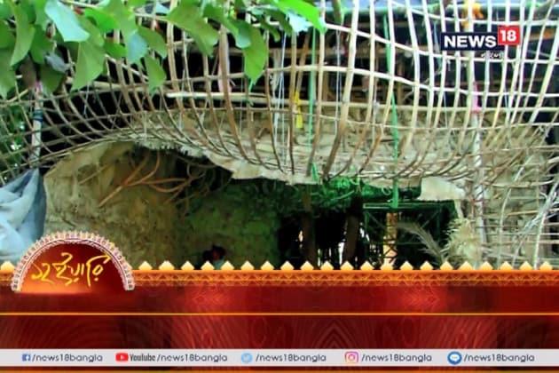 বোসপুকুর তালবাগানের মণ্ডপেই সবুজ ছুটির লুটোপুটি, মণ্ডপের ভিড়েই মিলবে প্রকৃতির আরাম
