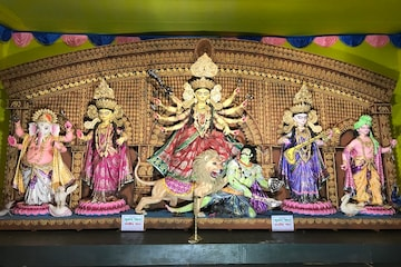 Durga Puja 360°: আদি বালিগঞ্জের পুজো মণ্ডপ