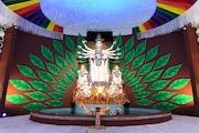 Durga Puja 360°: সন্তোষপুর লেক পল্লীর পুজো, এক ক্লিকে দেখুন পুরো মণ্ডপ