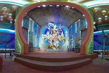 Durga Puja 360°: কুমারটুলি সর্বজনীনের পুজো, এক ক্লিকে দেখুন পুরো মণ্ডপ