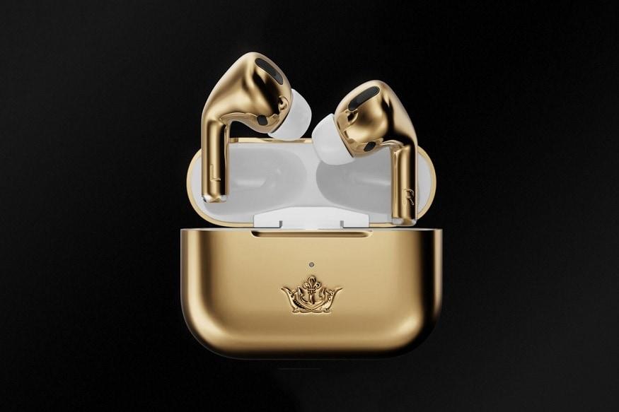 অ্যাপল-এর এয়ারপড-এর দাম ১৪,৯০০ টাকা চার্জিং বক্স সমেত, কিন্তু নতুন এই  এয়ারপডটি দাম ৪৮ লক্ষ টাকা।   (Image: Caviar )