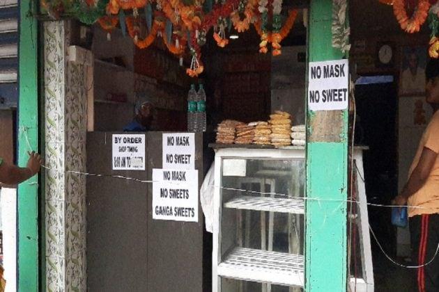 নো মাস্ক, নো স্যুইটস! শিলিগুড়িতে এবারে করোনা সতর্কতা মিষ্টির দোকানেও