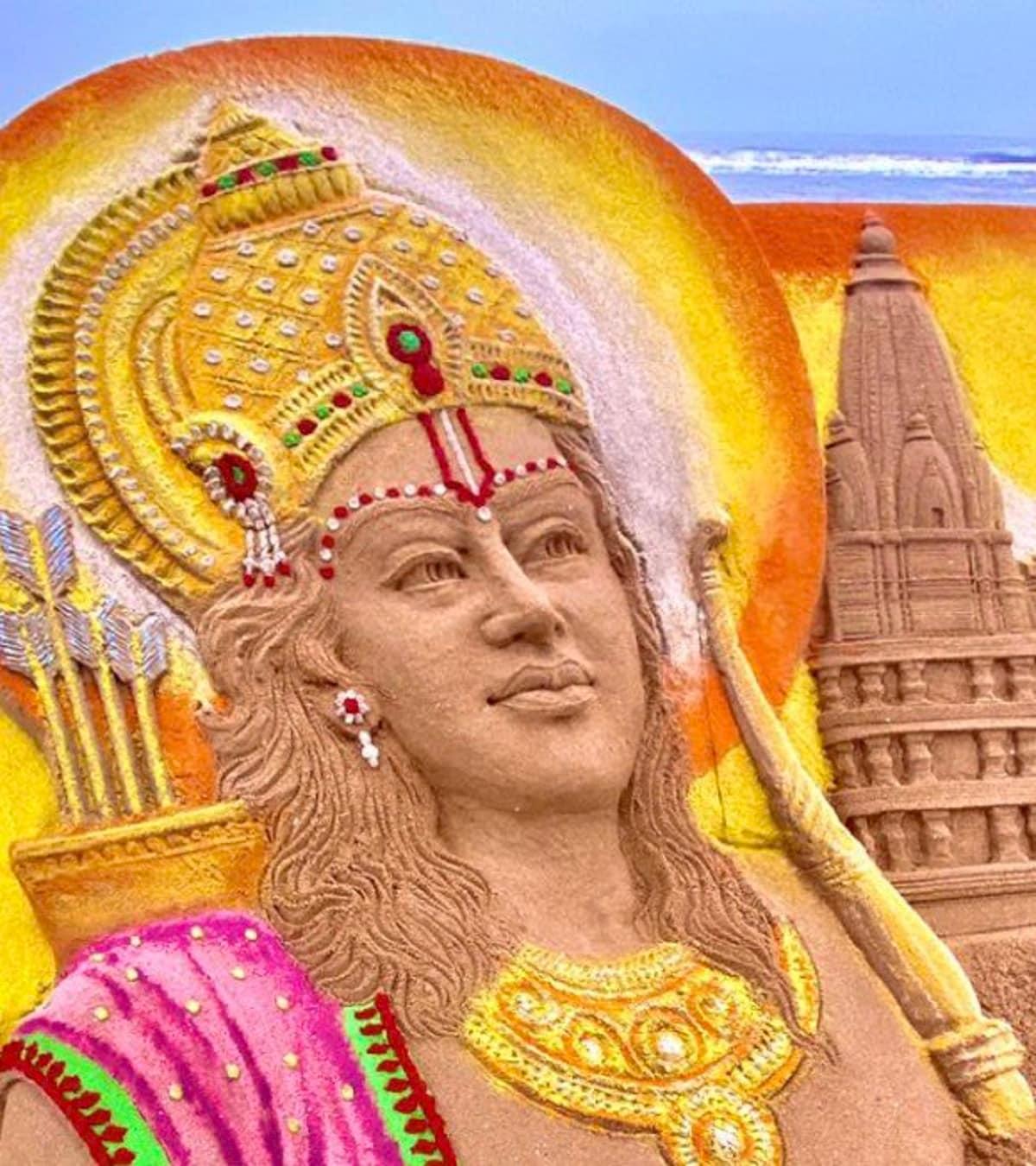 ভগবান শ্রী রামকে শ্রদ্ধা জানাতেই এই সুন্দর শিল্পটি তৈরি করেন তিনি। যা ইতিমধ্যে সকলের কাছে প্রশংসিত। photo source collected