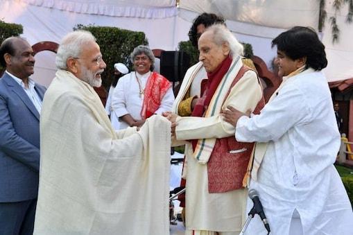 Narendra Modi and Pandit Jasraj