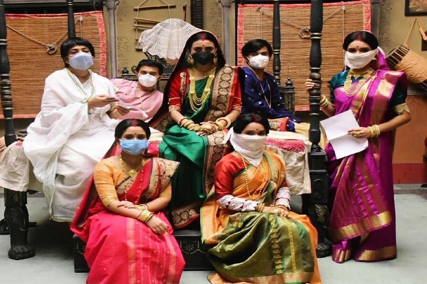 করোনা আবহে 'কপালকুণ্ডলা'র সেটে ।