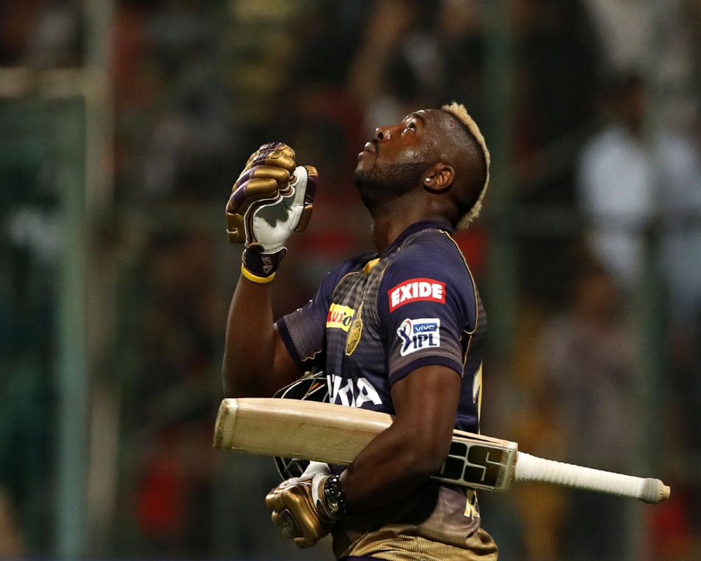 # 4. Andre Russell: The all-rounder in the West Indies' Marquette is a reliable player for the Kolkata team.  Currently a significant face in T20 cricket.  He has scored 1342 runs in 56 matches for Kolkata at an average of 35.31.
