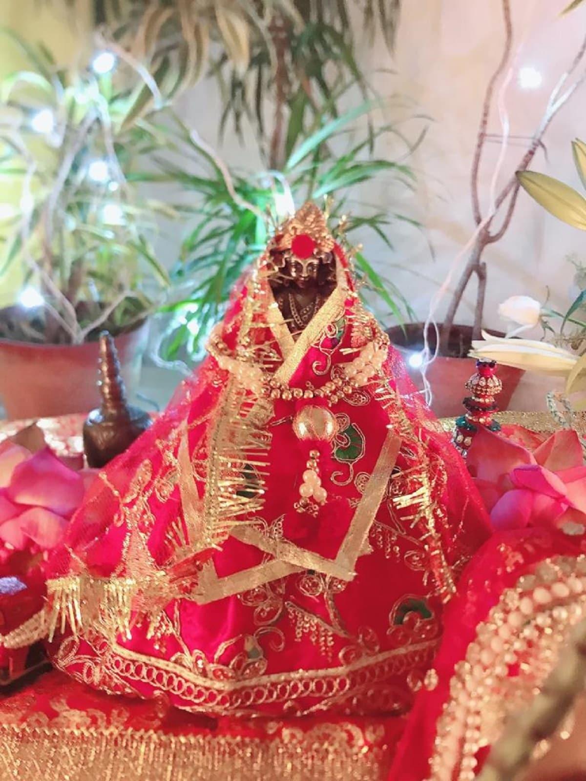 একাই সমস্ত আয়োজন করেছেন পল্লবী। মা লক্ষ্মীকে সাজানো, থেকে প্রসাদ সব কিছু নিজের হাতে করেছেন তিনি।