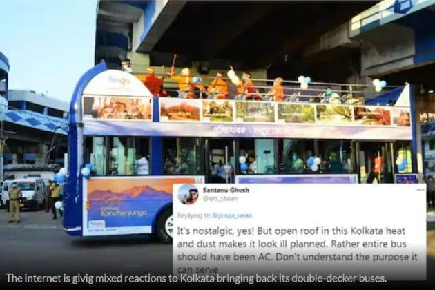 কলকাতায় ফিরল নস্টালজিয়ার ডবল ডেকার বাস, কিন্তু বৃষ্টি হলে কী হবে ? চিন্তা বাঙালির!