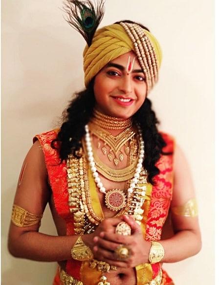 'মহাপ্রভু শ্রী চৈতন্য' ধারাবাহিকে কৃষ্ণ চরিত্রে।